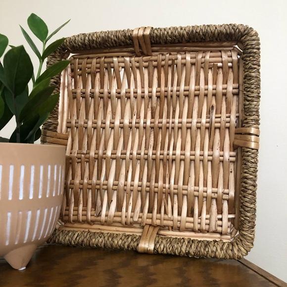 Boho Square Wicker Basket